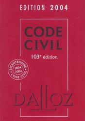 Code Civil 2004 - Intérieur - Format classique
