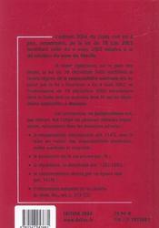 Code Civil 2004 - 4ème de couverture - Format classique