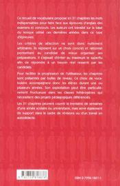 Vox Anglais Le Vocabulaire Incontournable Des Examens Et Concours - 4ème de couverture - Format classique