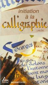 Initiation a la calligraphie - Intérieur - Format classique