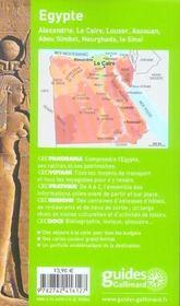 Geoguide ; Egypte (Edition 2006/2007) - 4ème de couverture - Format classique