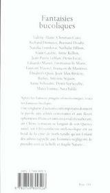 Fantaisies bucoliques - 4ème de couverture - Format classique
