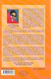 Karunamayi - Biographie - 4ème de couverture - Format classique