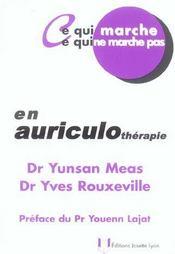 En Auriculotherapie - Intérieur - Format classique