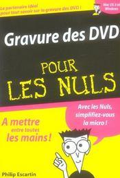 Gravure des DVD pour les nuls - Intérieur - Format classique