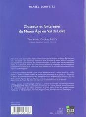 Chateaux et forteresses du moyen age en val de loire touraine, anjou, berry, orleanais, vendomois, m - 4ème de couverture - Format classique