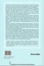 Les hommes et la terre en forez à la fin du moyen âge ; la seignerie rurale face aux crises des xiv et xv siècles - 4ème de couverture - Format classique