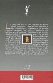 Lamartine - la vigne et la maison - 4ème de couverture - Format classique