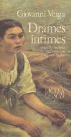 Drames intimes - Couverture - Format classique