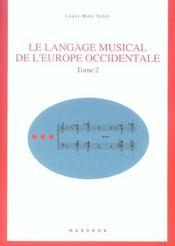 Langage musical de l'europe occidentale t2 - Intérieur - Format classique