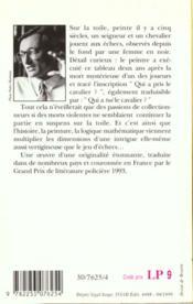Le tableau du maitre flamand - 4ème de couverture - Format classique