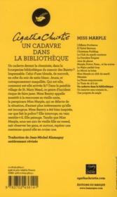 Un cadavre dans la bibliothèque - 4ème de couverture - Format classique
