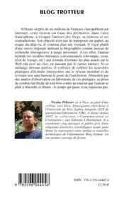 Blog trotteur ; dix fragments d'un itinéraire - 4ème de couverture - Format classique