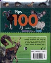 Mes 100 premiers animaux de la forêt - 4ème de couverture - Format classique