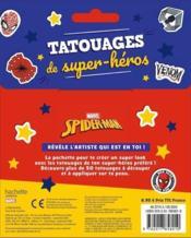 Spider-Man ; tatouages de super-héros - 4ème de couverture - Format classique
