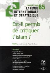 Est-il permis de critiquer l'islam ? - Intérieur - Format classique