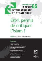 Est-il permis de critiquer l'islam ? - Couverture - Format classique