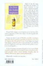 Le livre des huiles magiques - 4ème de couverture - Format classique