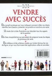 Vendre Avec Succes - 4ème de couverture - Format classique