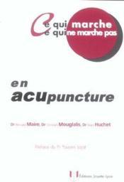 En acupuncture - Couverture - Format classique