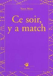 Ce Soir Y A Match - Intérieur - Format classique