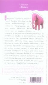 Singularité de l'éléphant d'Europe - 4ème de couverture - Format classique