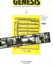 Genesis N.1 - Couverture - Format classique