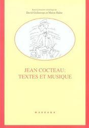 Jean Cocteau Textes Et Musique - Intérieur - Format classique