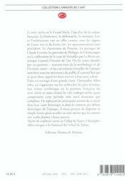 Grand Siècle de la Peinture Française (Le) - 4ème de couverture - Format classique