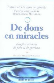 De dons en miracles - Intérieur - Format classique