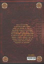 Lecture Alchimique De La Grand-Place De Bruxelles - 4ème de couverture - Format classique