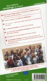 Guide Du Routard ; Nos Meilleurs Campings En France (Edition 2012) - 4ème de couverture - Format classique