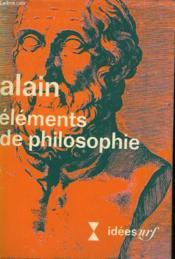 Elements De Philosophie. Collection : Idees N° 13 - Couverture - Format classique