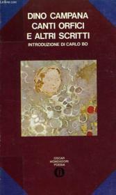 Canti Orfici E Altri Scritti - Couverture - Format classique