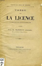These Pour La Licence, Code Civil, Des Privileges Et Hypotheques - Couverture - Format classique