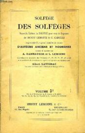Solfege Des Solfeges Volume 3c - Couverture - Format classique