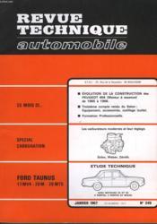 Revue Technique Automobile - N°249 - Couverture - Format classique