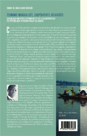 Économie mondialisée coopératives délaissées ; sociologie du développement et de la coopération en République Démocratique du Congo - 4ème de couverture - Format classique