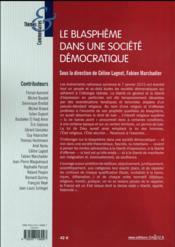 Le blasphème dans une société démocratique - 4ème de couverture - Format classique
