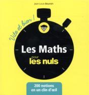 Les mathématiques pour les nuls - Couverture - Format classique