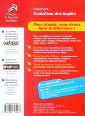 Concours controleur des impots categorie b n07 2004 (édition 2004) - 4ème de couverture - Format classique
