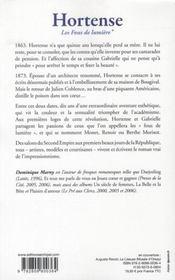 Les fous de lumière t.1 ; Hortense - 4ème de couverture - Format classique