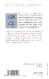 Légende de Madjélis et autres contes - 4ème de couverture - Format classique