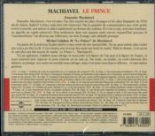 Le prince - 4ème de couverture - Format classique