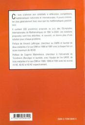 300 Defis Mathematiques - 4ème de couverture - Format classique