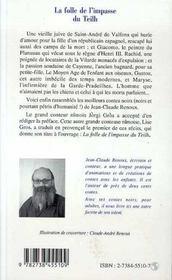 La Folle De L'Impasse Du Teilh - 4ème de couverture - Format classique
