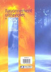 Rayonnement Ultrav&Peau - 4ème de couverture - Format classique