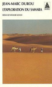 L'exploration du Sahara - Couverture - Format classique