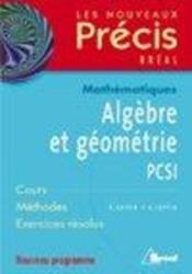 Algèbre et geometrie - Couverture - Format classique