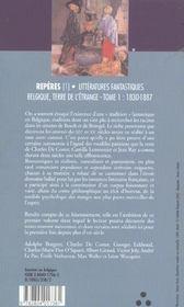 Litteratures Fantastiques, Tome 1 : 1830-1887 - 4ème de couverture - Format classique